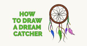 How to draw a dream catcher - featured image