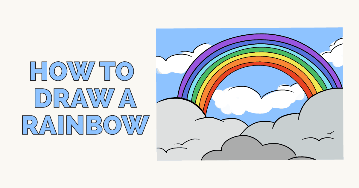 How to draw a rainbow - featured image