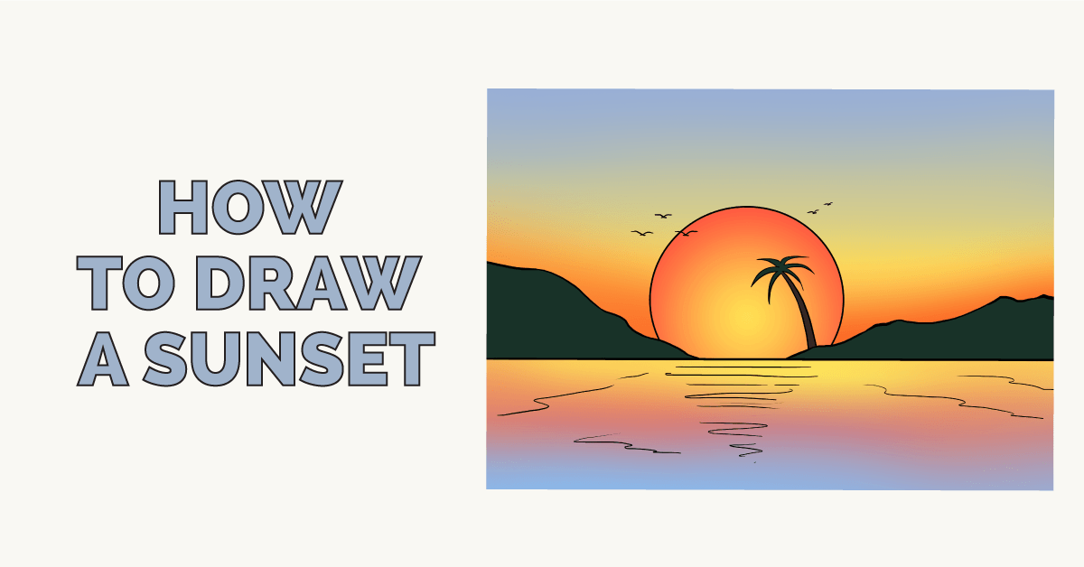 How to draw sunset - featured image