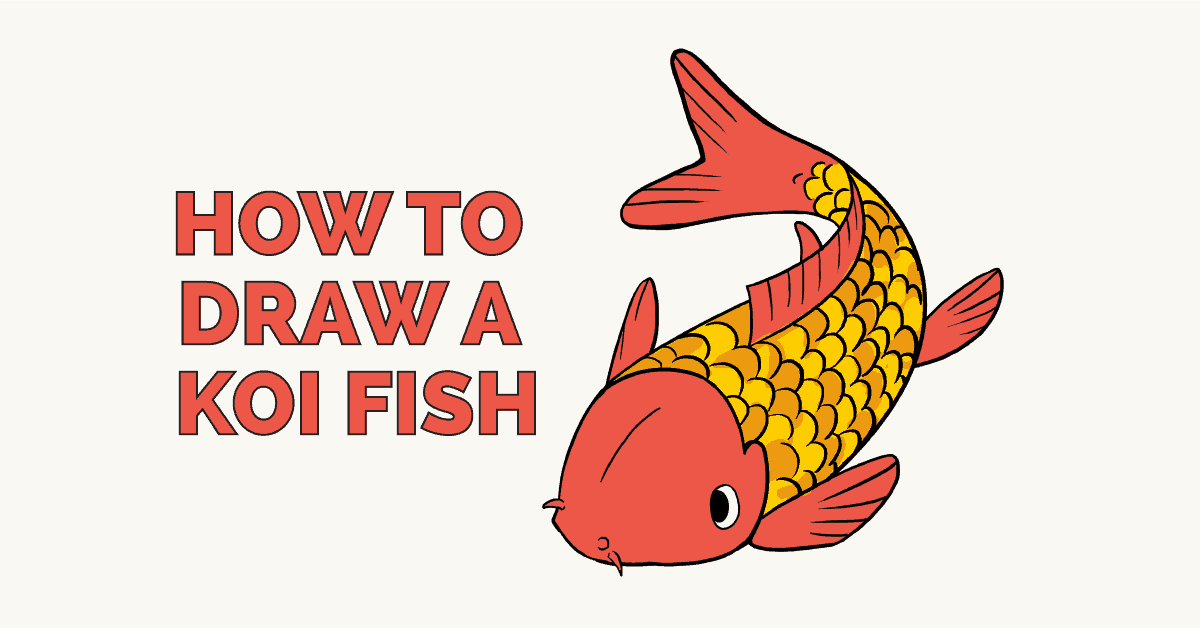 how to draw a koi fish really easy drawing tutorial