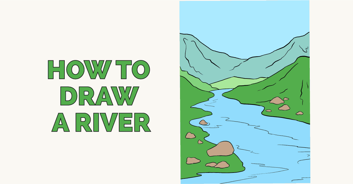 How to draw a river - featured image
