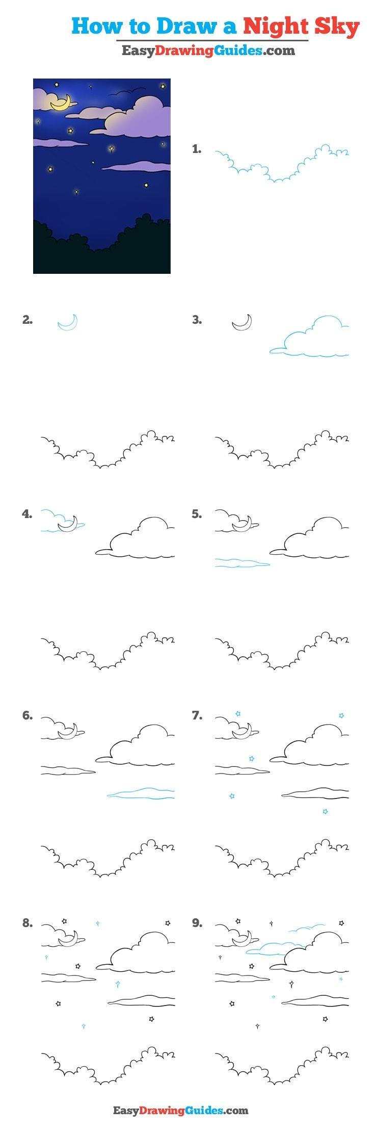 How to Draw Night Sky