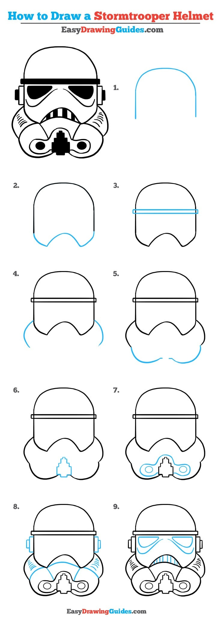 How to Draw Stormtrooper Helmet