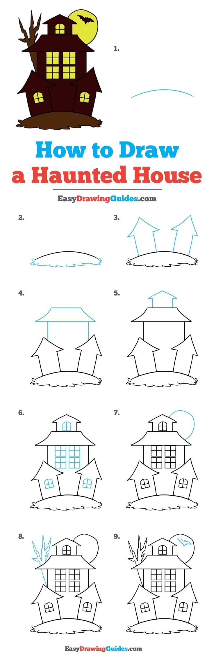 How to Draw Haunted House