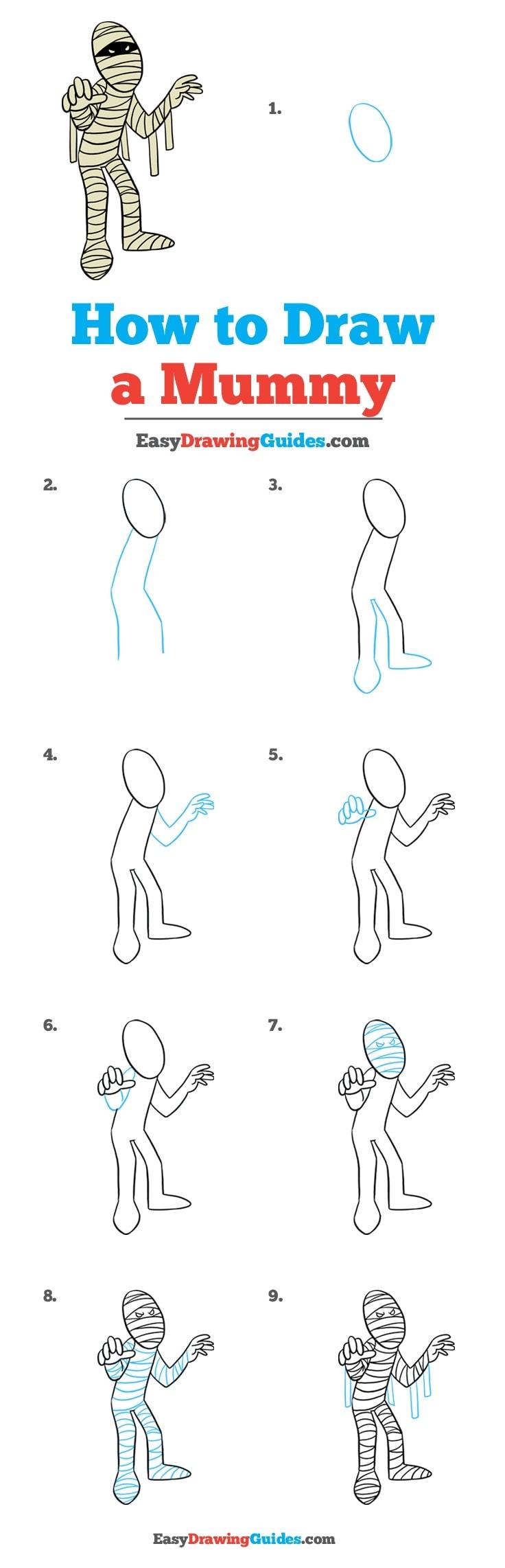 How to Draw Mummy