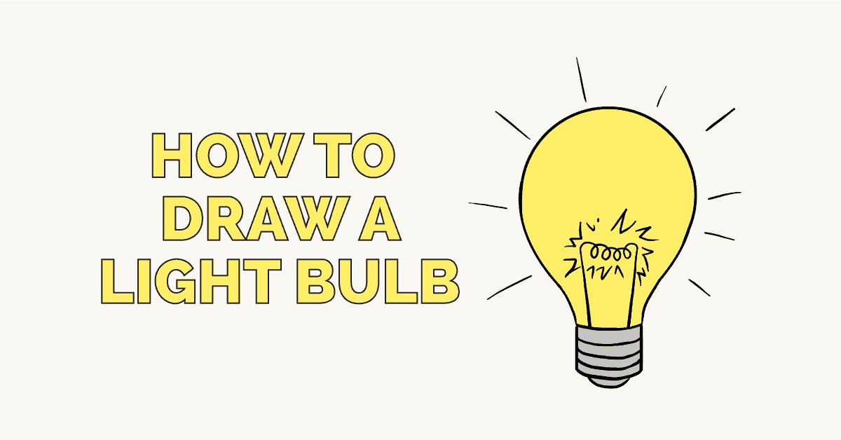How to Draw a Light Bulb: Featured image