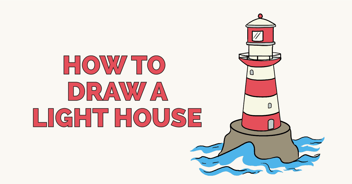 How to draw a lighthouse featured image
