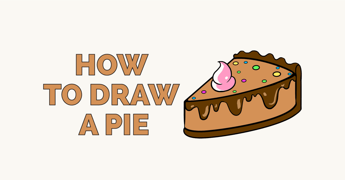 How To Draw A Tasty Pie Really Easy Drawing Tutorial