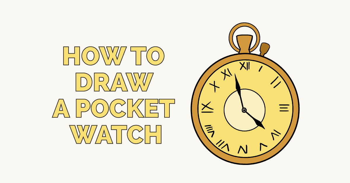 How To Draw A Pocket Watch Really Easy Drawing Tutorial