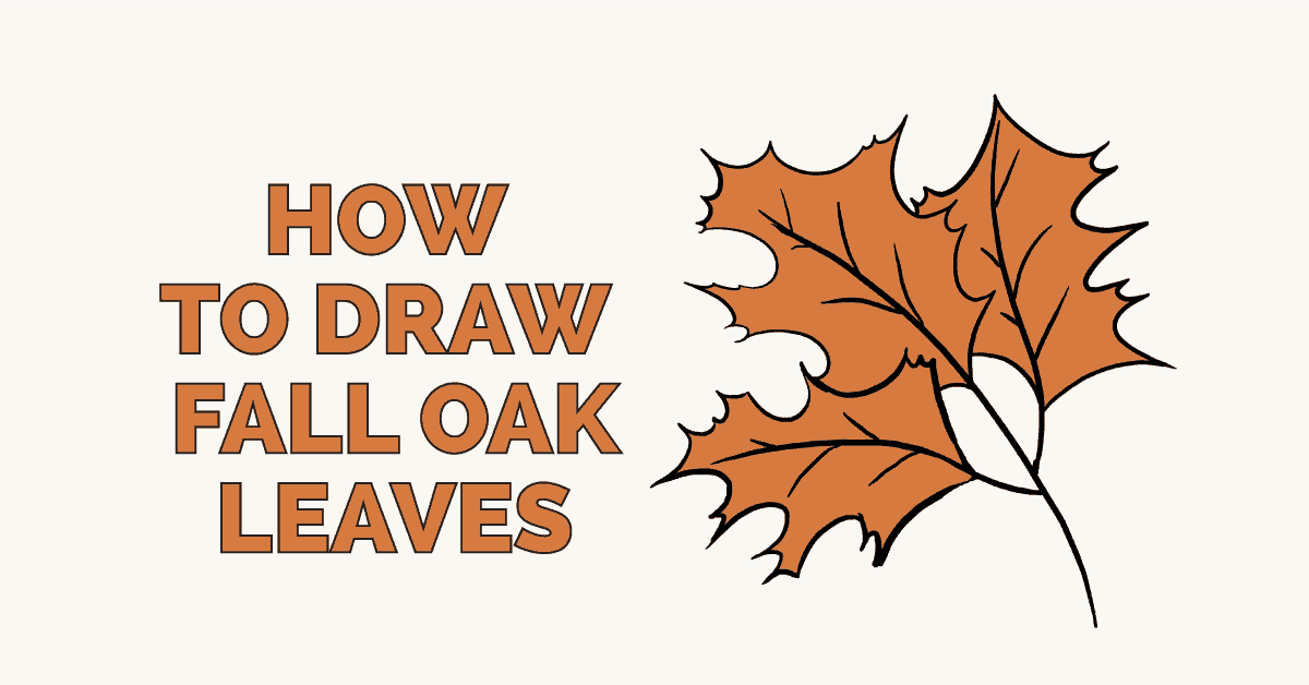 How to Draw Fall Oak Leaves: Featured Image