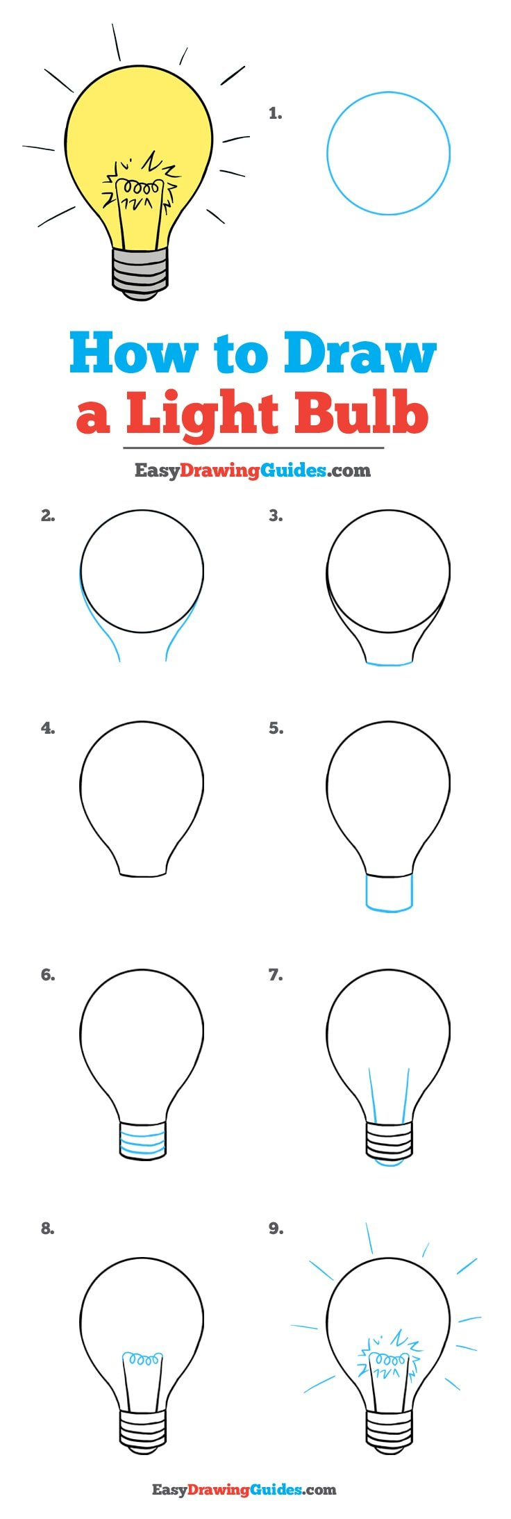How to Draw Light Bulb