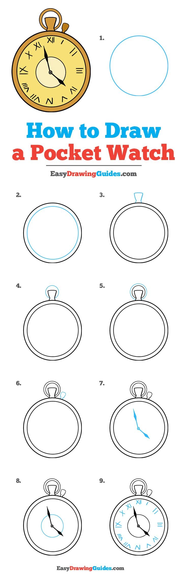 How to Draw Pocket Watch