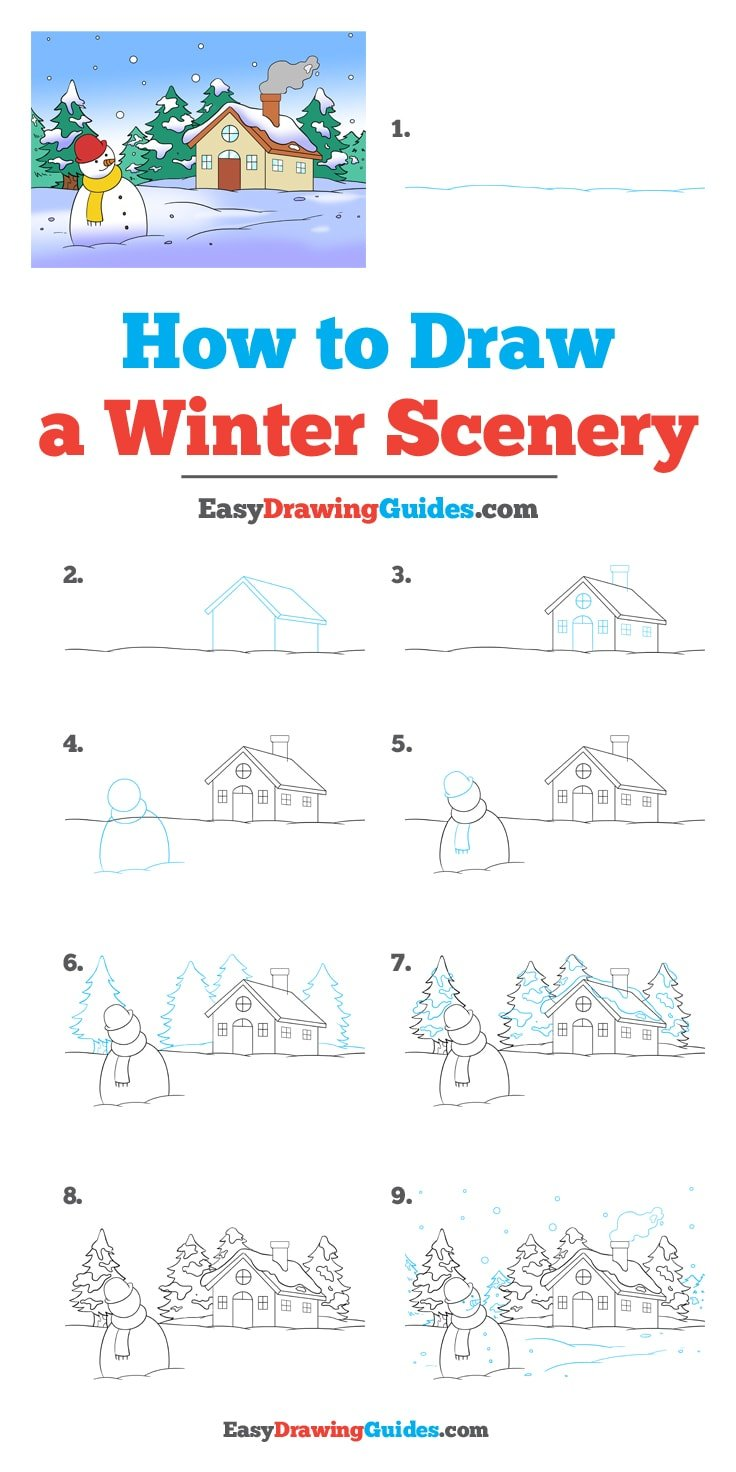 How to Draw Winter Scenery
