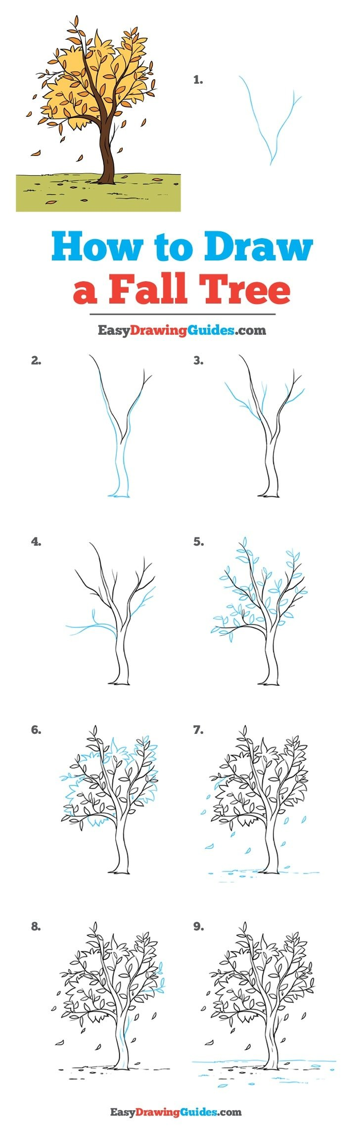 How to Draw Fall Tree
