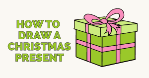 How to draw a christmas present featured image