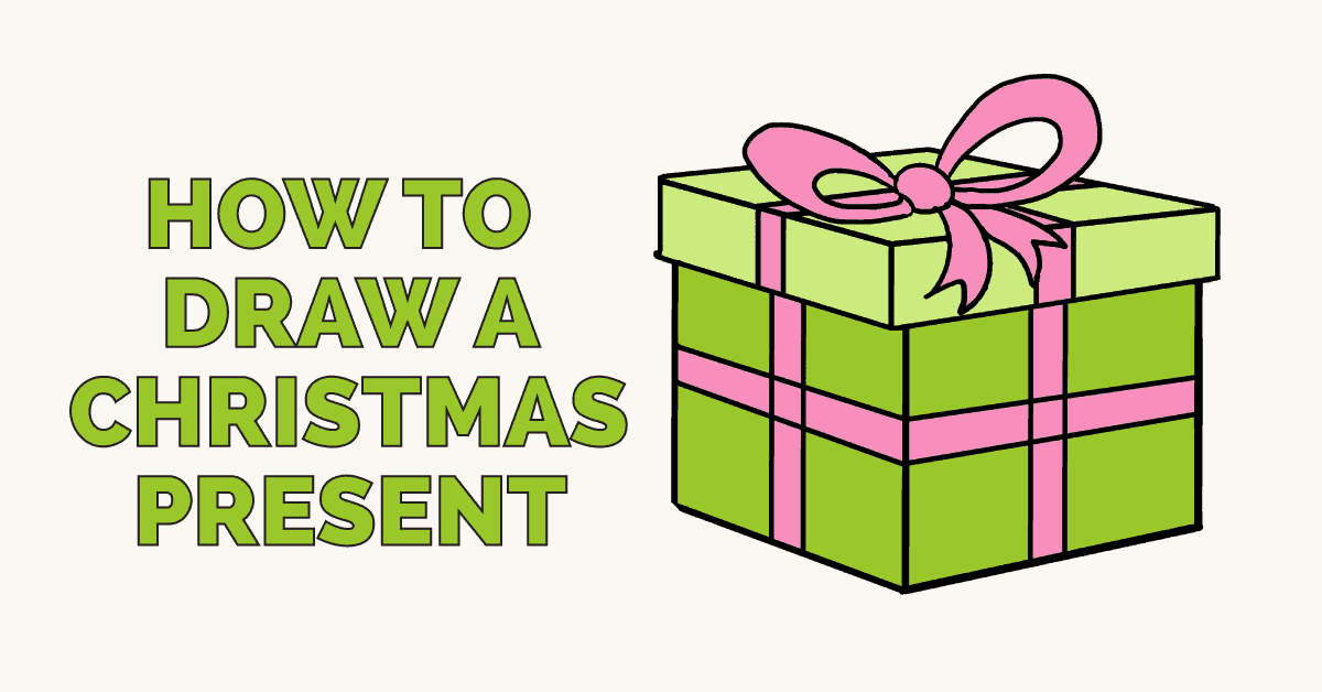 Drawings Of Christmas Presents.How To Draw A Christmas Present Really Easy Drawing Tutorial