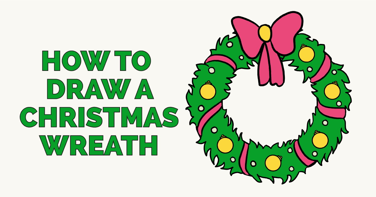 How to draw a christmas wreath featured image