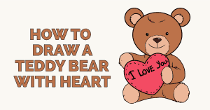 How to draw a valentine bear - featured image
