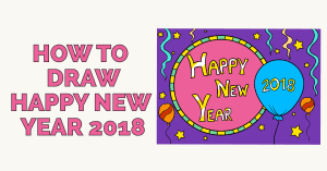 How to Draw Happy New Year 2018 - featured image