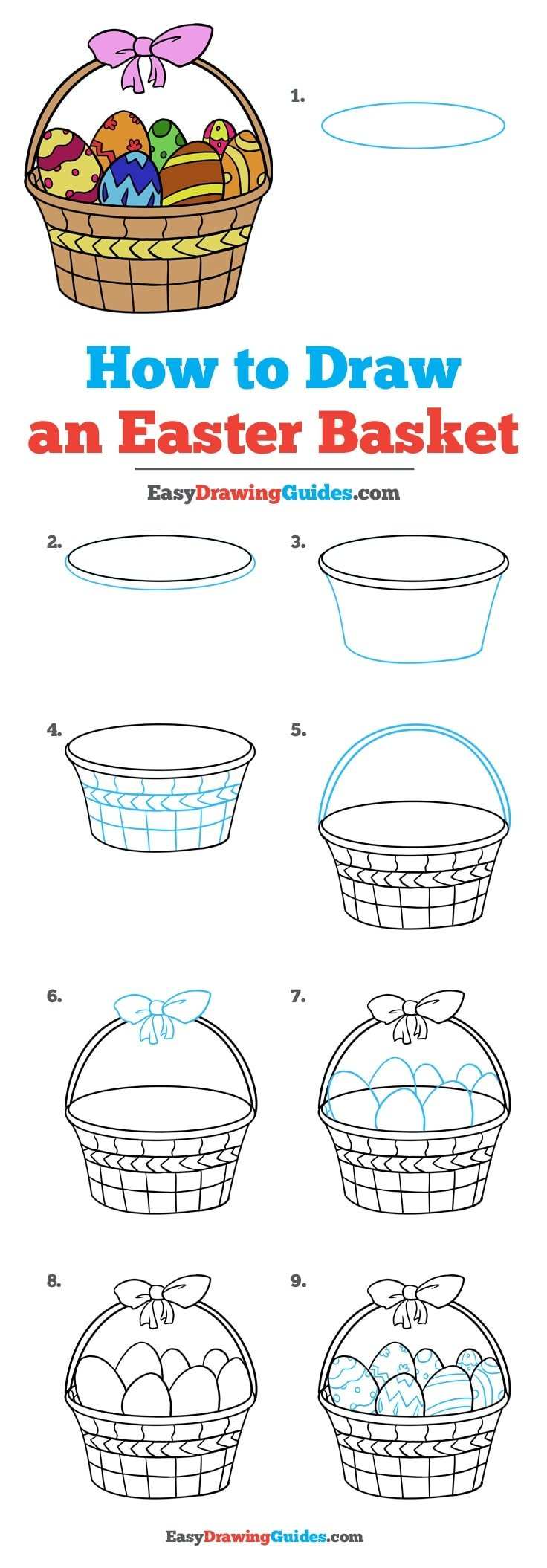 How to Draw Easter Basket
