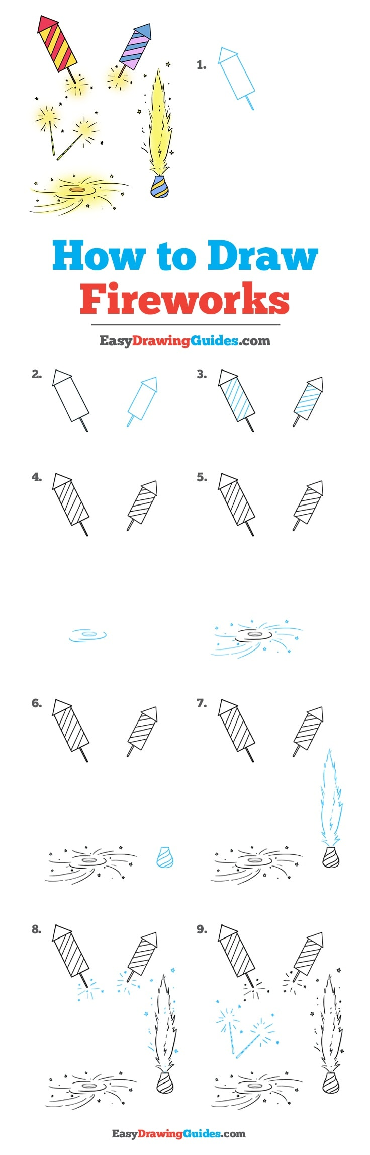 How to Draw Fireworks