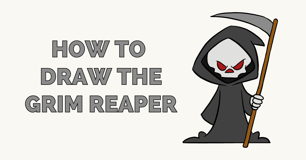 how to draw the grim reaper really easy drawing tutorial
