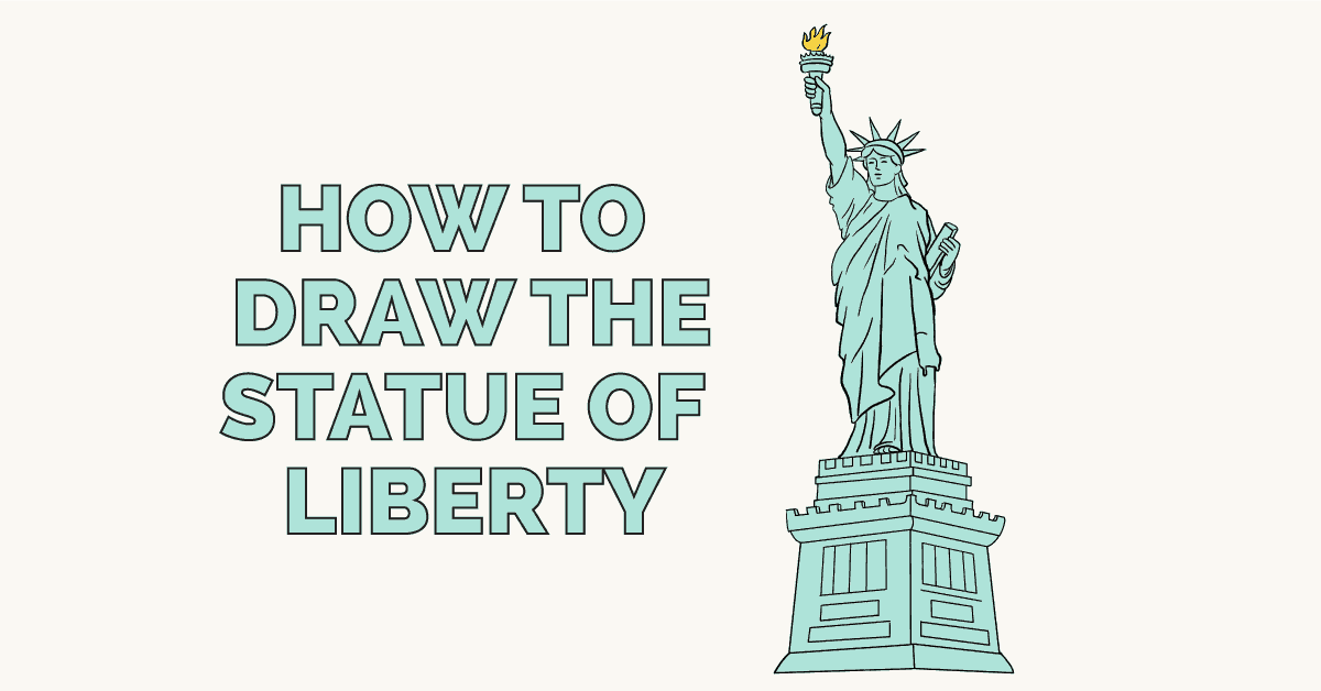 How to Draw the Statue of Liberty - Really Easy Drawing Tutorial