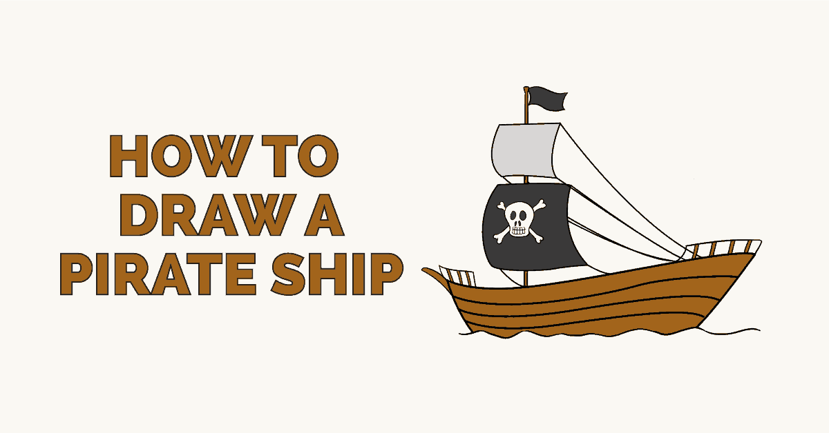 How to draw a Pirate Ship Featured Image