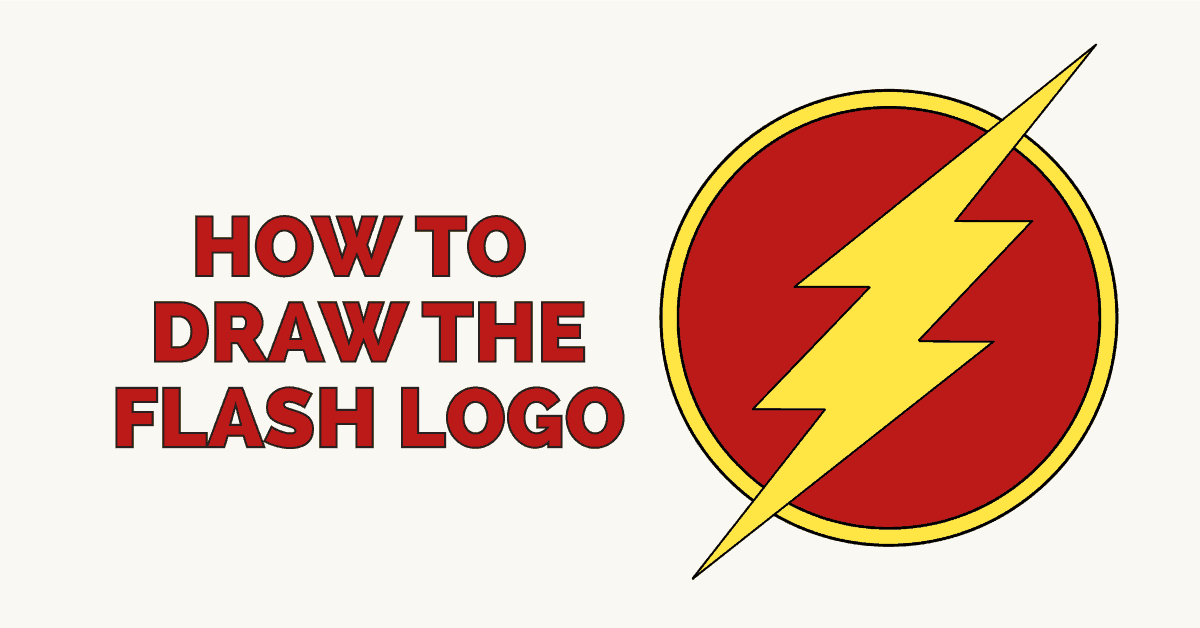 How to draw the flash logo featured image