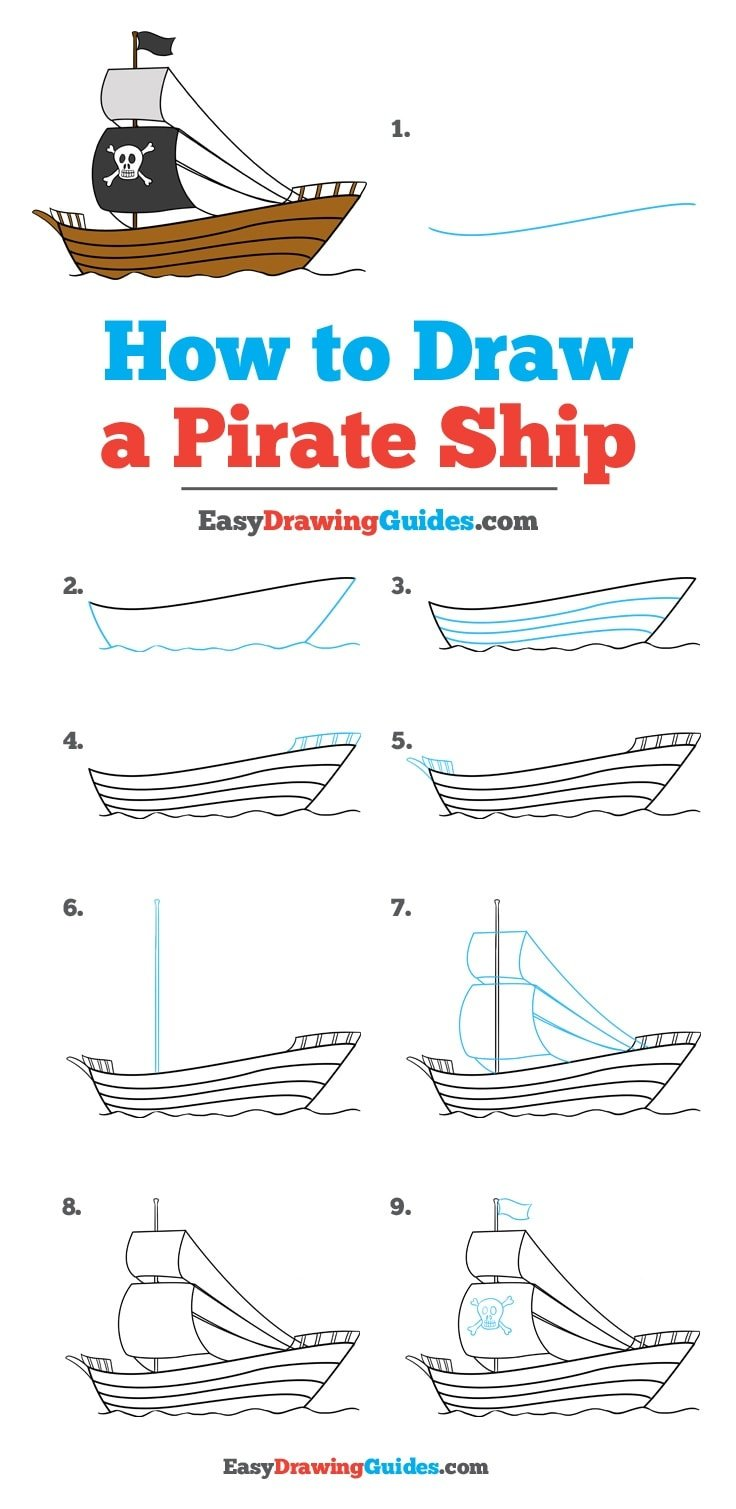 How to Draw Pirate Ship