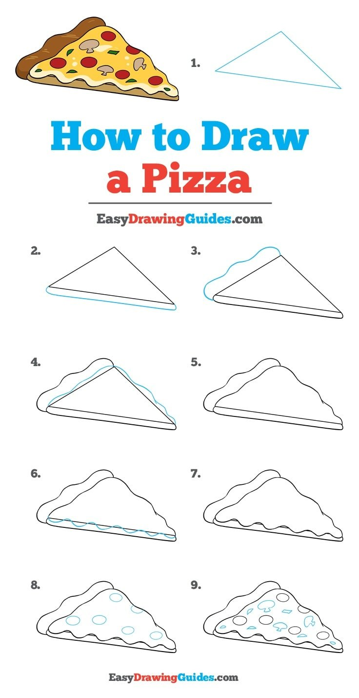 How to Draw a Pizza: Step by Step Tutorial
