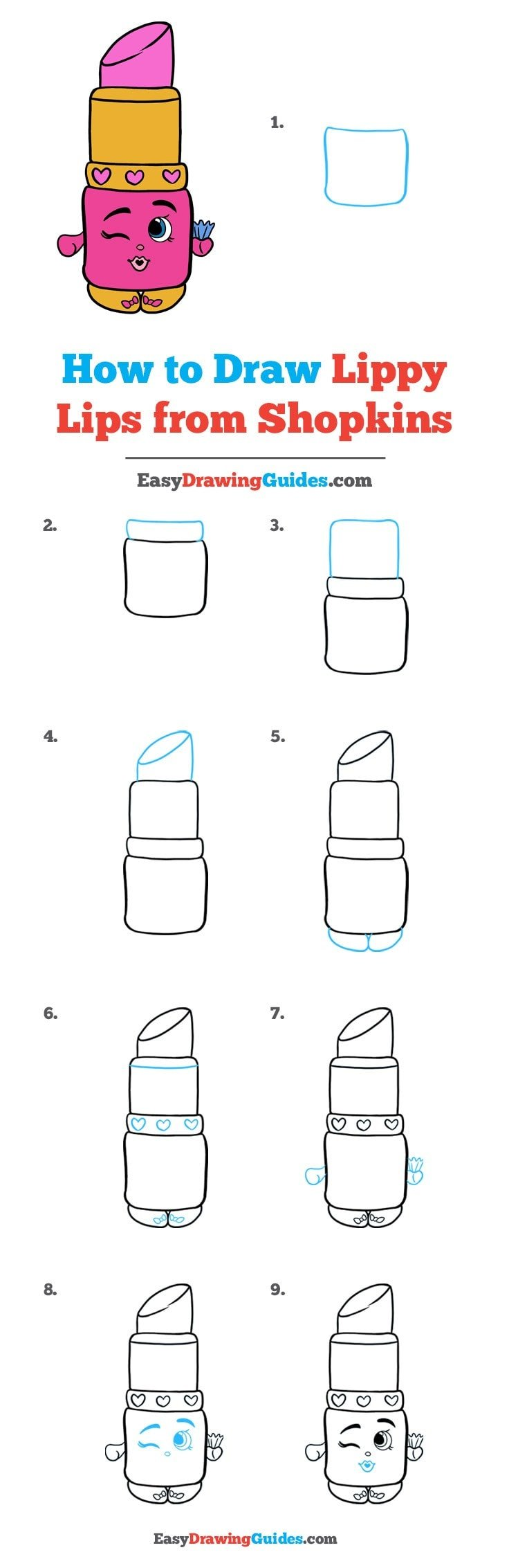 How to Draw Lippy Lips from Shopkins
