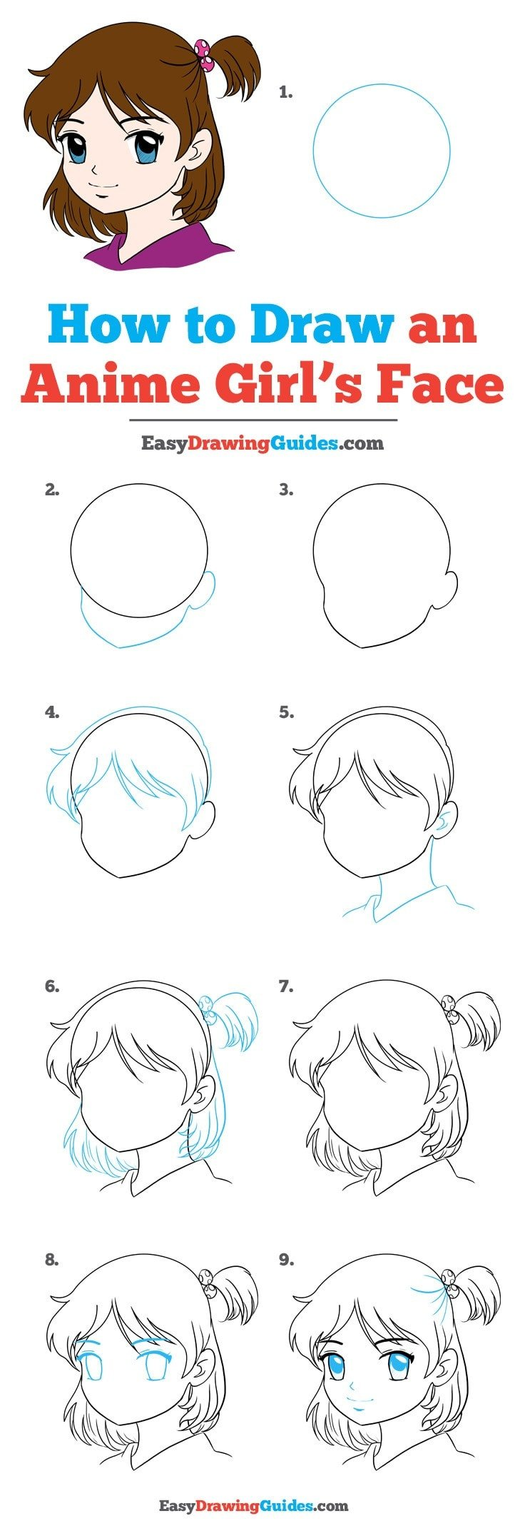 How to Draw Anime Girl Face