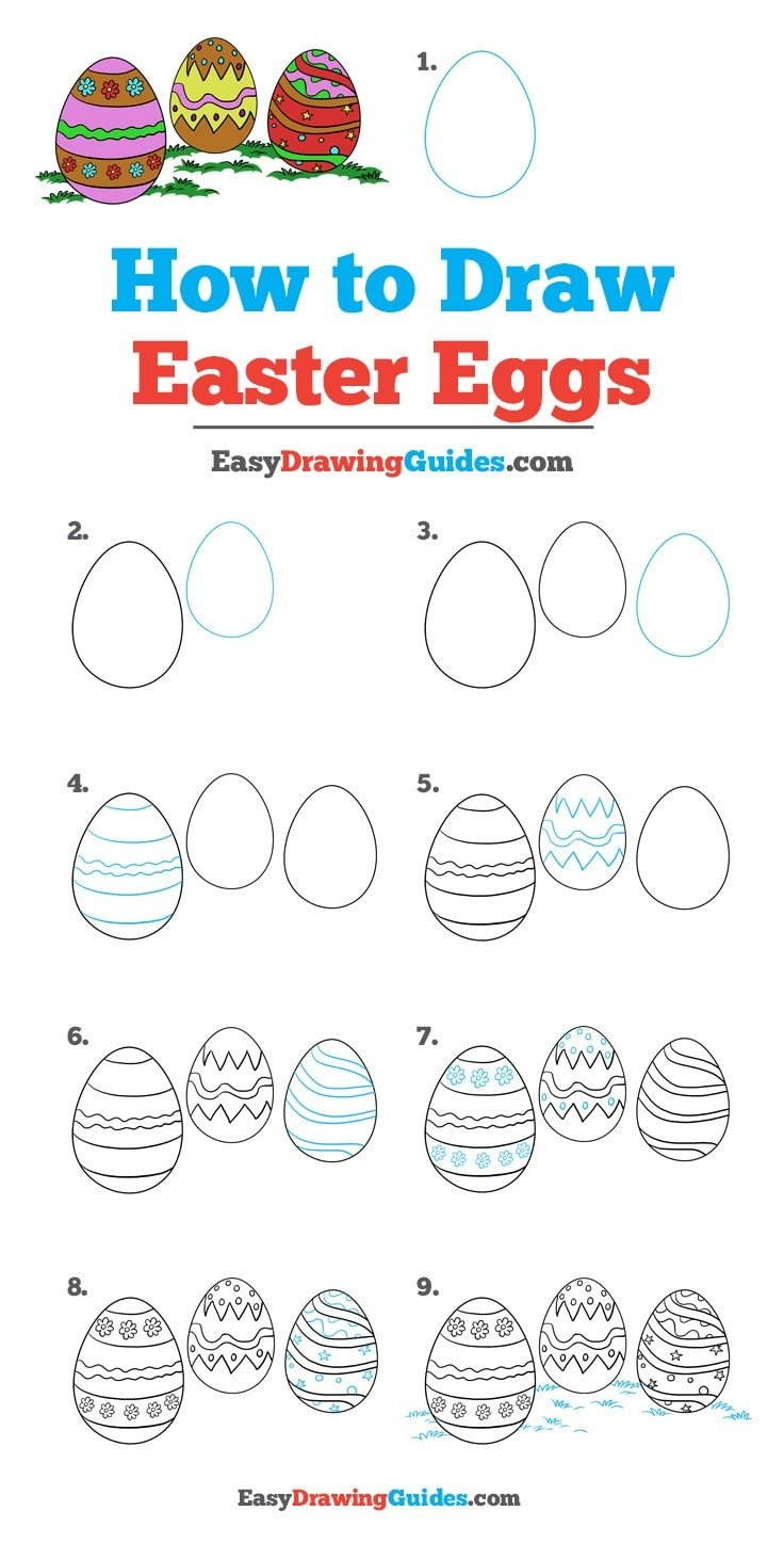How to Draw Easter Eggs