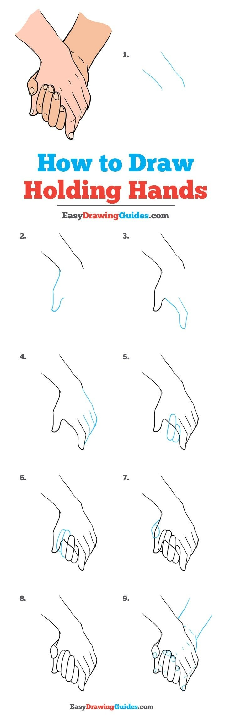 How to Draw Holding Hands: Step by Step Tutorial