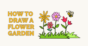 How to Draw a Flower Garden: Featured Image