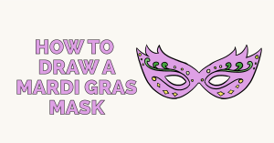 How to Draw a Mardi Gras Mask: Featured Image