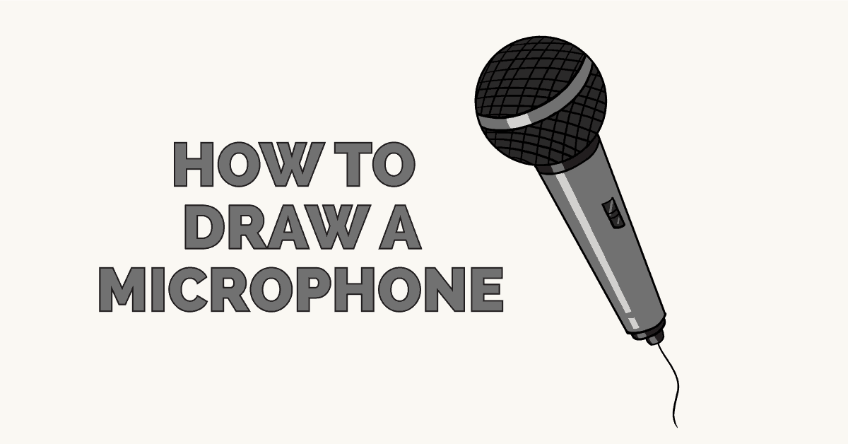 How to Draw a Microphone: Featured Image