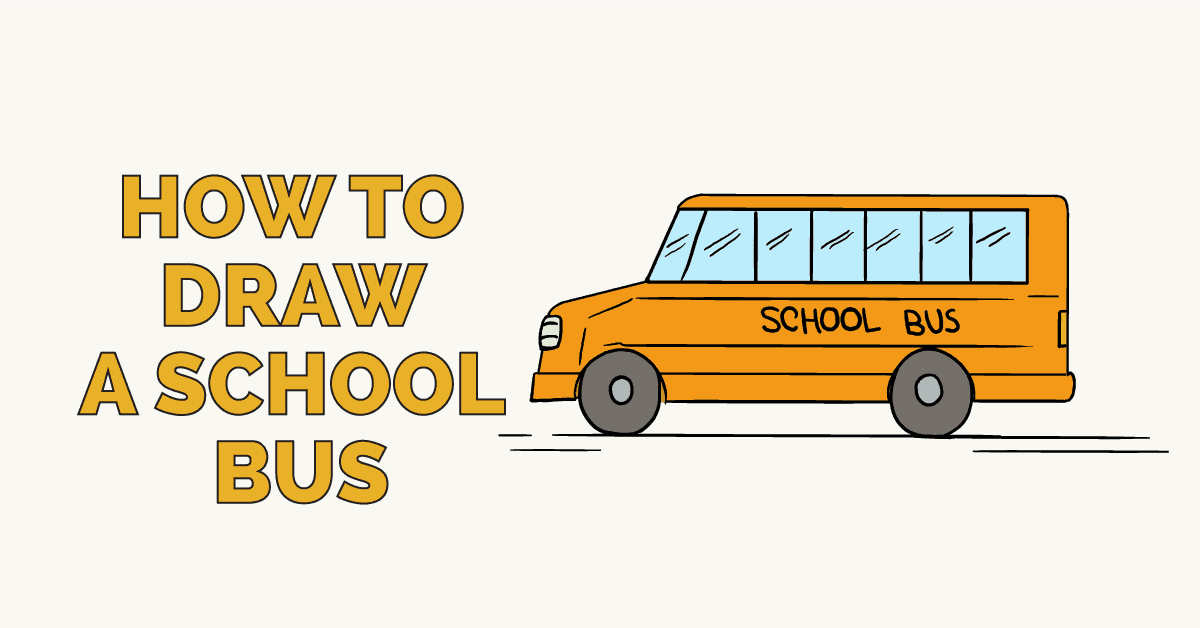 How to Draw a School Bus: Featured Image