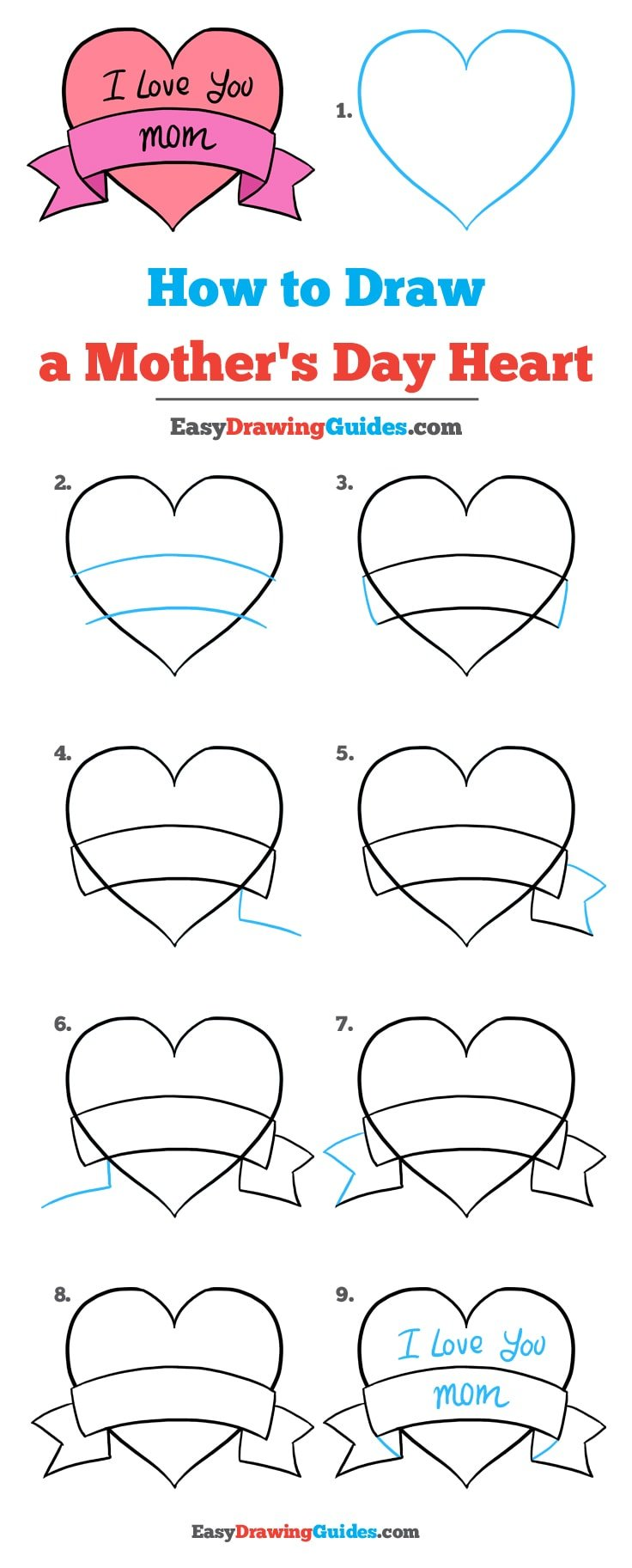 How to Draw Mother's Day Heart