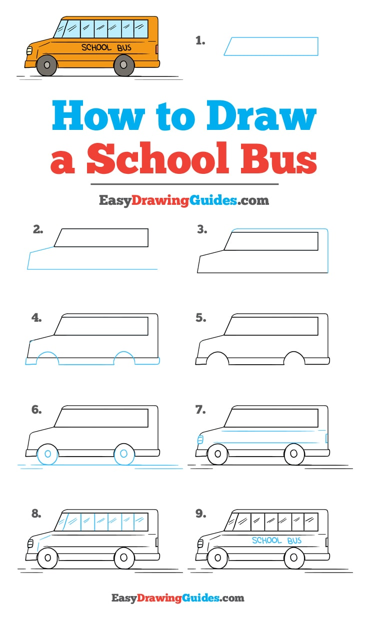 How to Draw School Bus