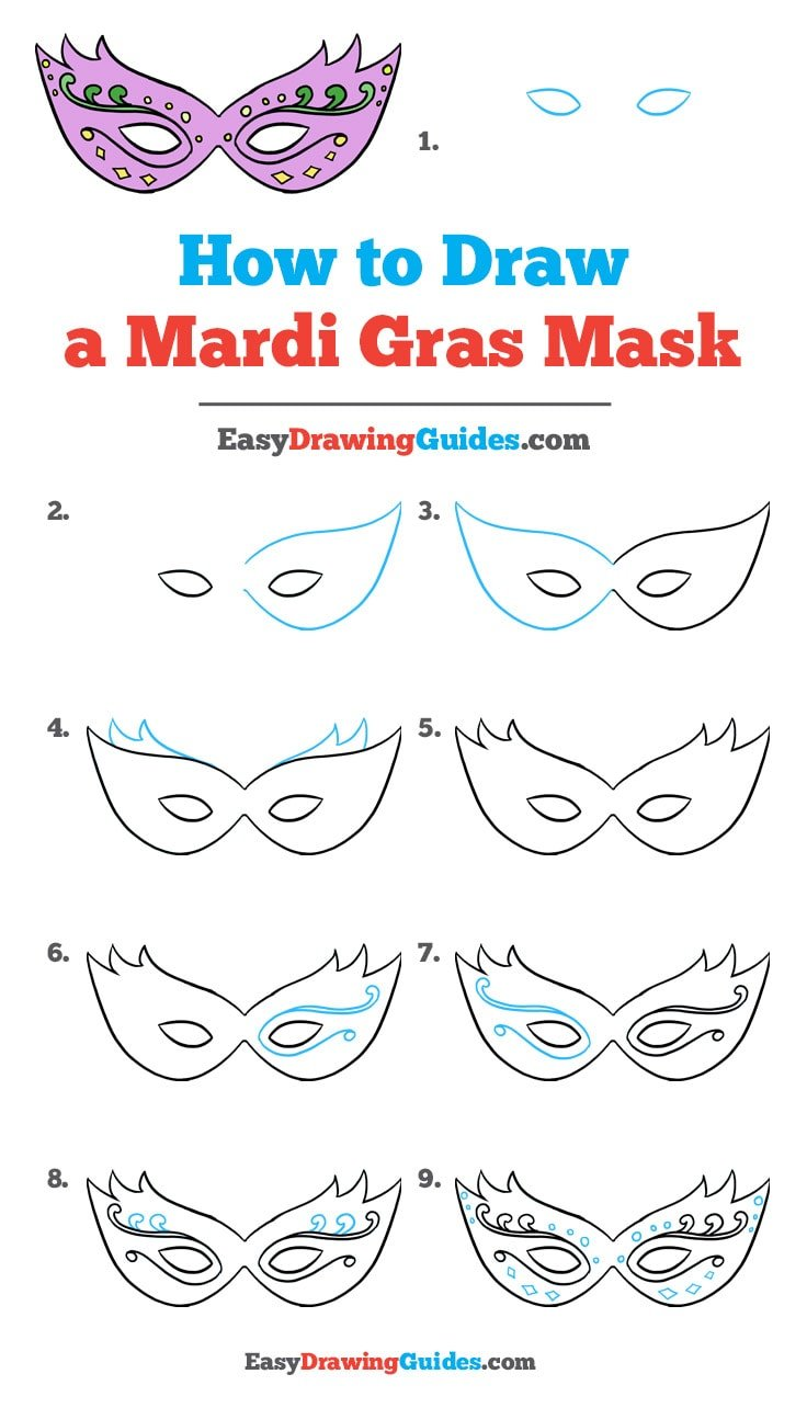 How to Draw a Mardi Gras Mask: Step by Step Tutorial