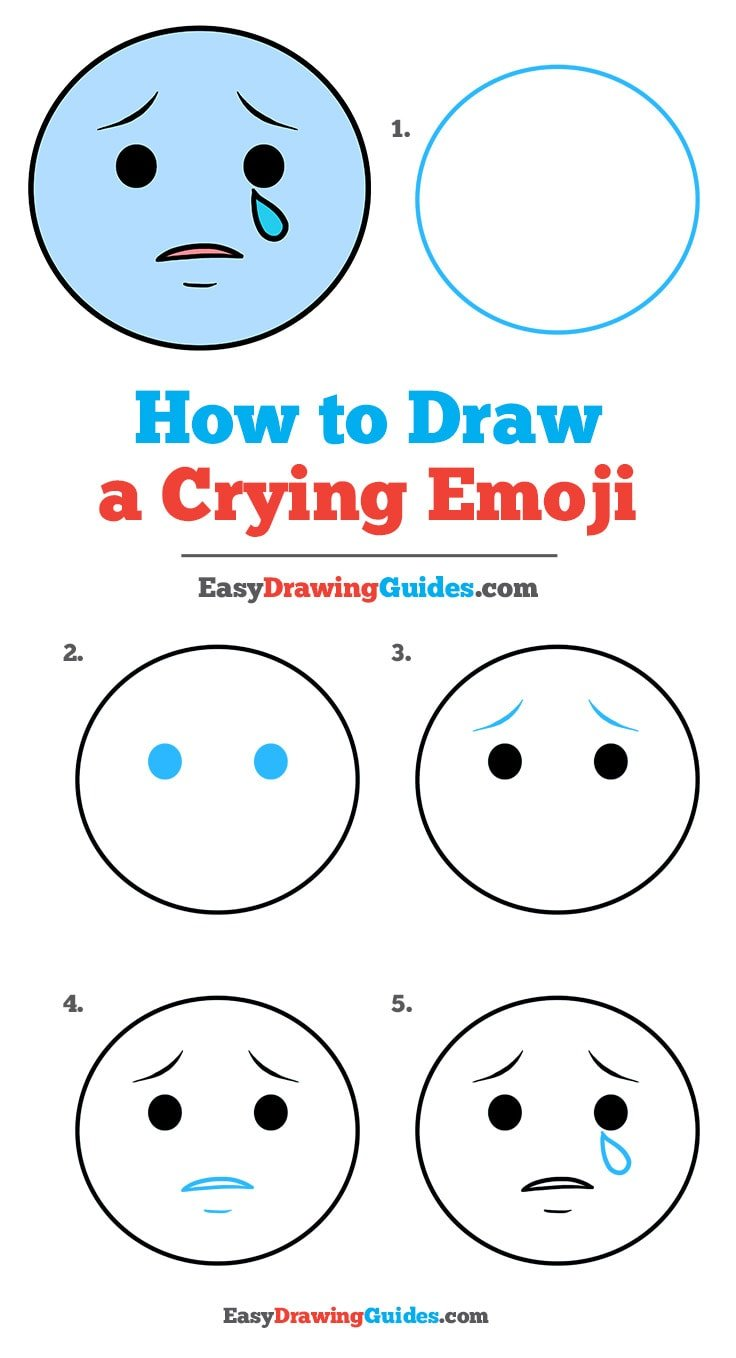 How to Draw Crying Emoji