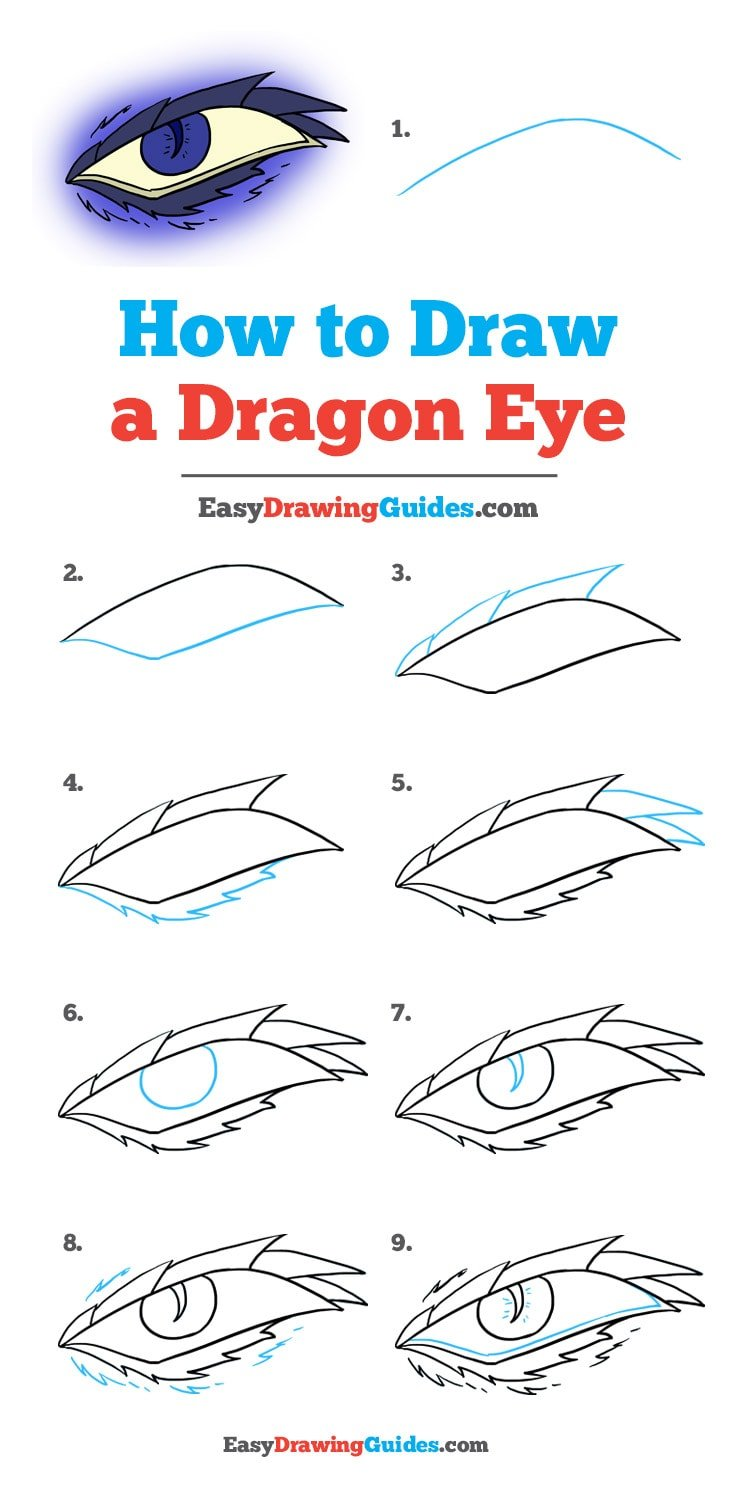 How to Draw a Dragon Eye: Step by Step Tutorial