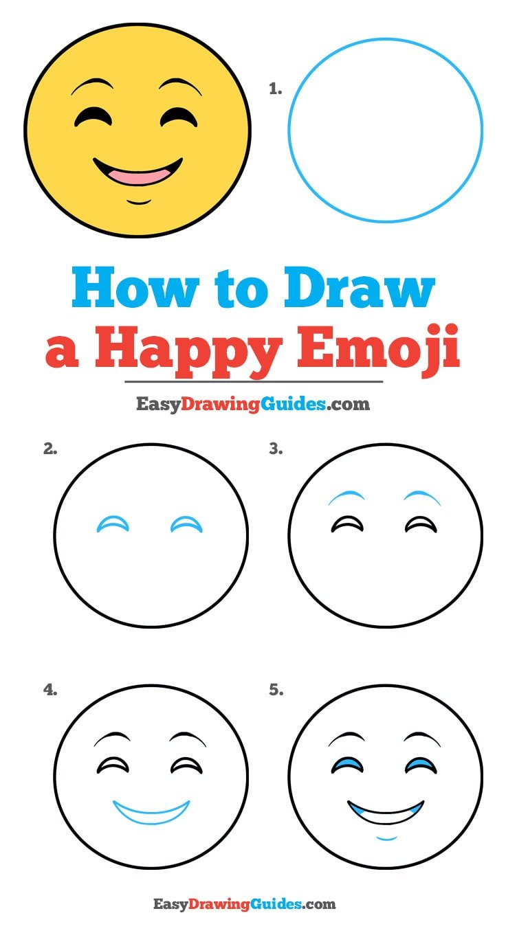 How to Draw Happy Face Emoji