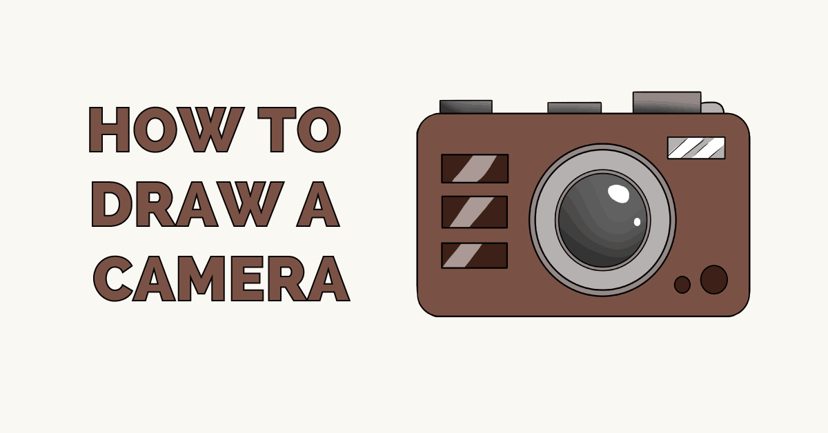 How to draw a camera: Featured image