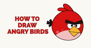 How to Draw Angry Birds: Featured Image