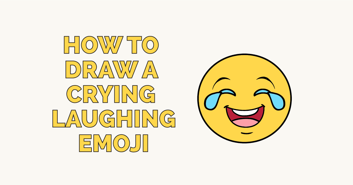How to Draw a Crying Laughing Emoji: Featured Image