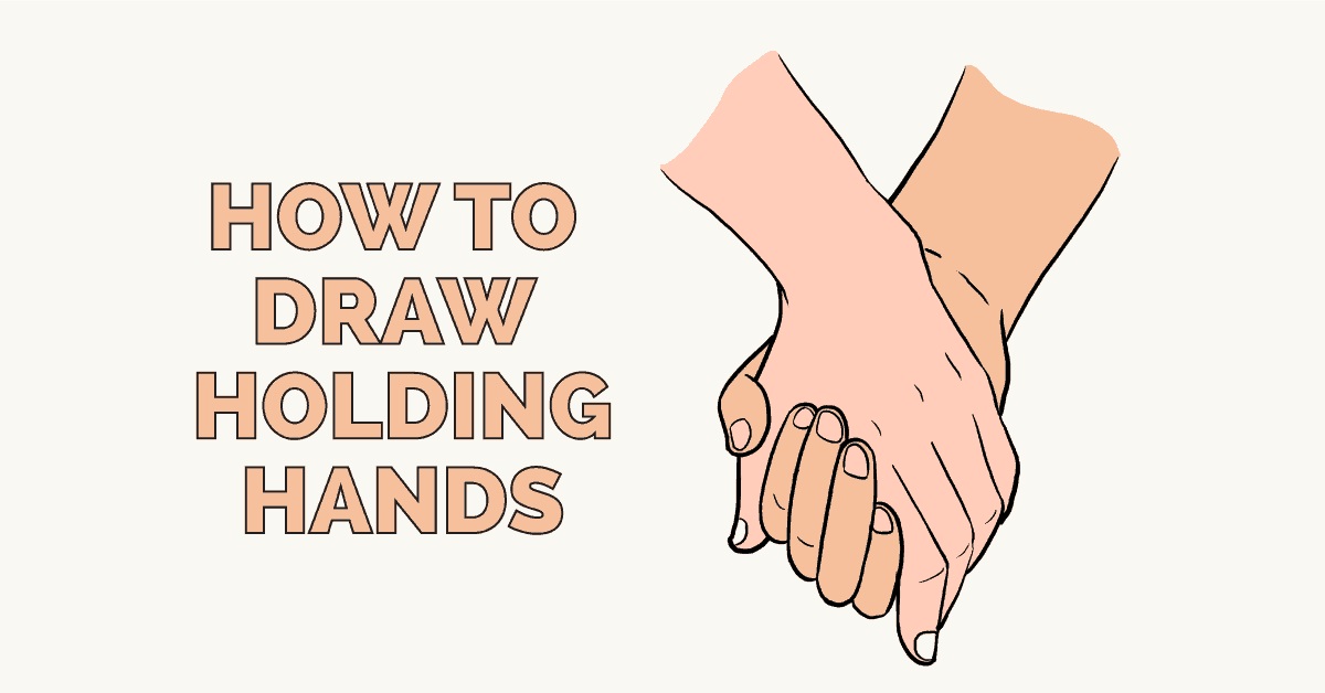 How To Draw Holding Hands Really Easy Drawing Tutorial