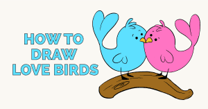 How to Draw Love Birds: Featured image